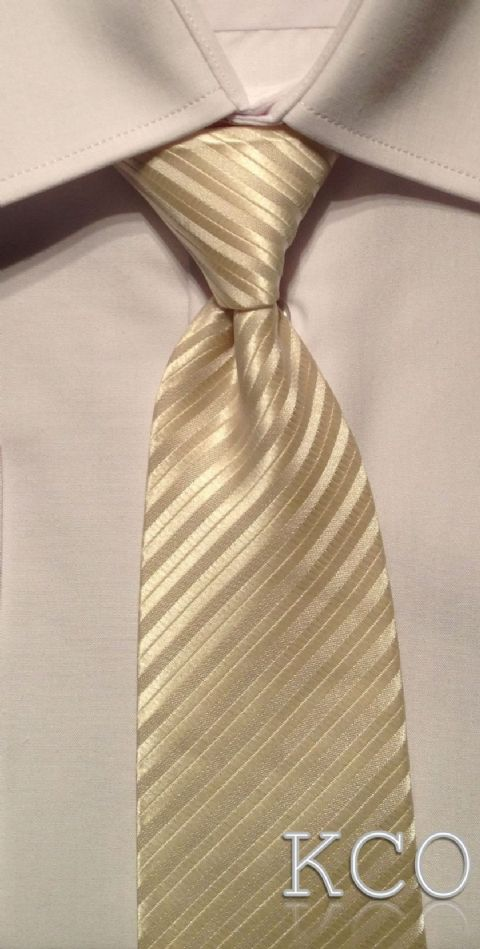 Elasticated Tie~ Style MS001E Ivory